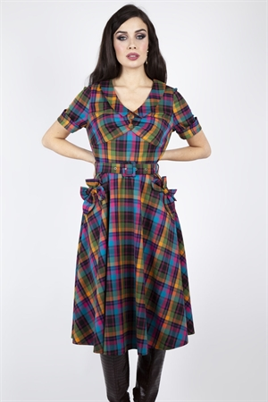 Voodoo Vixen Camilla Plaid Flare Dress