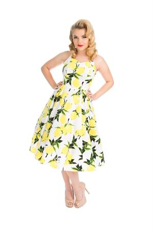 Hearts & Roses Lemon Floral Halterneck Swing Dress