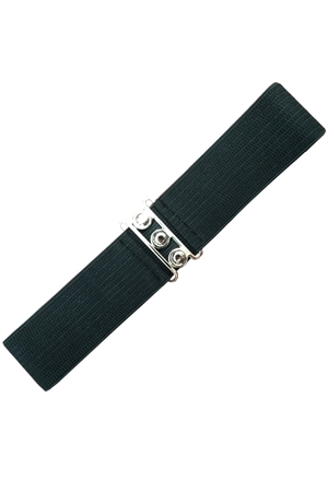 Banned Retro 50s Vintage Stretch Belt in Black