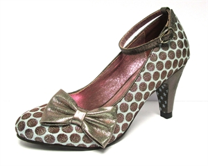 Joe Browns Couture Rochelle Blue Pewter Polka Dot Shoes