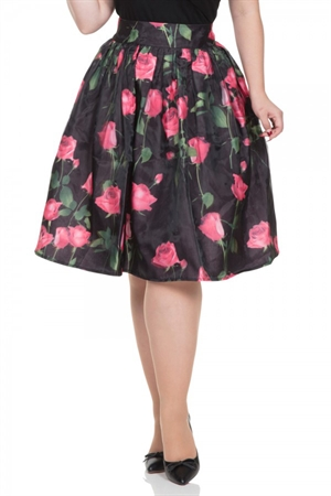 Voodoo Vixen Nellie Rose Skirt With Overlay