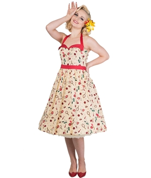 Banned Romantics Dancing Days 50s Halterneck Dress