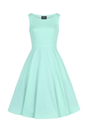 Hearts and Roses 50's Pastel Green Retro's Summer Rockabilly Swing Dress