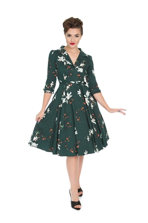 Hearts & Roses 50s Dorothy Lily Floral Swing Dress