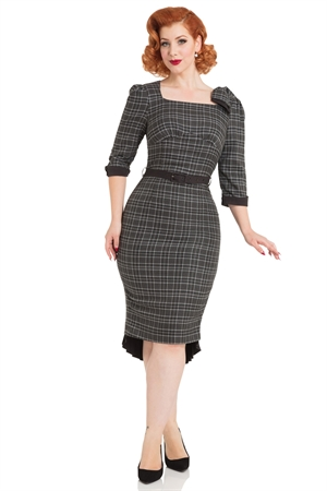 Voodoo Vixen Veronica Tartan Pencil Dress