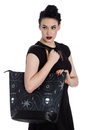 Hell Bunny Arcante Cats Tote Bag