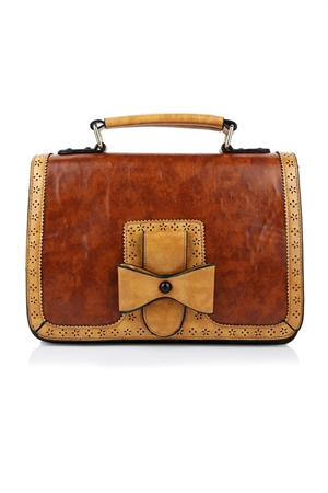 Dancing Days-Banned Retro Camel Brown Scandal Handbag