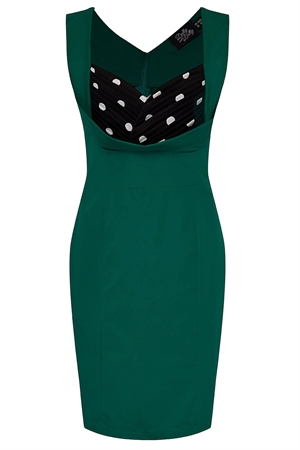 Dolly and Dotty Georgette Wiggle Dress in Green