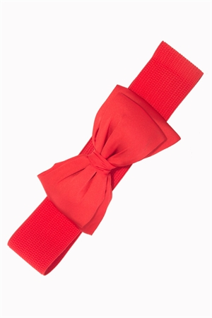 Banned Retro Bella Bow Belt in Red