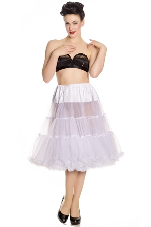 """Hell Bunny Long Petticoat (25-27"""") In White"""