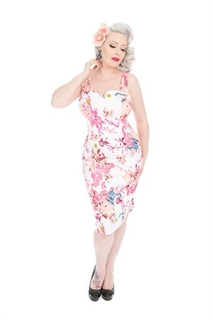 Hearts & Roses 50s Heavenly Vintage Summer Wiggle Dress