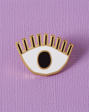 Abbey Withington Golden Eye Enamel Pin