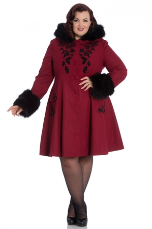 Hell Bunny Sherwood Coat In Red