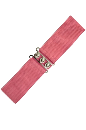 Banned Retro 50s Vintage Stretch Belt in Coral Pink