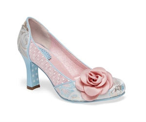 Joe Browns Isabelle Couture pastel Blue Pink Dot Shoes