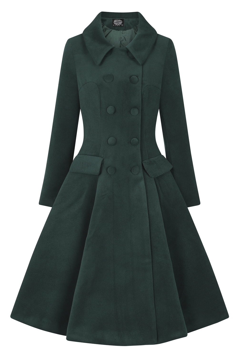 Hearts And Roses Evelyn Green Swing Coat Bettie Vintage