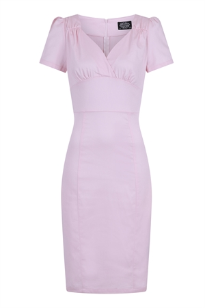 efafb4f5e0ba Hearts & Roses Summer 50's Pastel Pink Retro's Rockabilly Wiggle Dress