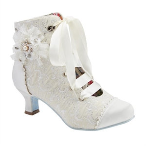 Joe Browns Hitched Bridal Ivory Victorian Wedding Boots