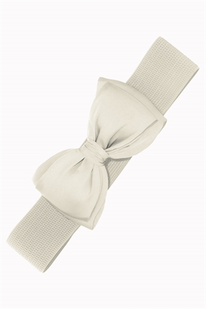Banned Retro Bella Bow Belt in Off White