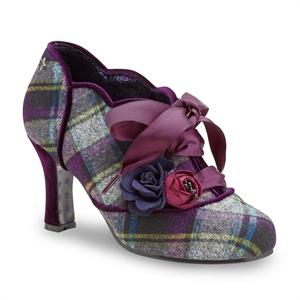 Joe Browns Purple Tartan Yazzabelle Couture Shoes