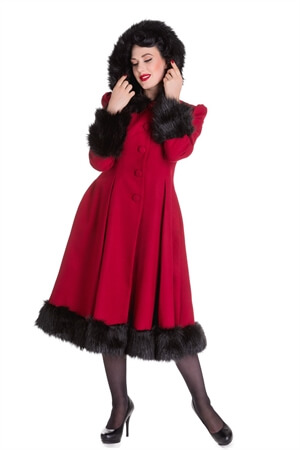 Hell Bunny Red Elvira Coat