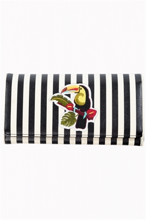 Dancing Days-Banned Black White Stripes Toucan Wallet