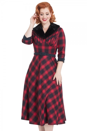 Voodoo Vixen Bettie Plaid Swing Dress