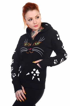 Banned Black Cat Face Hoodie