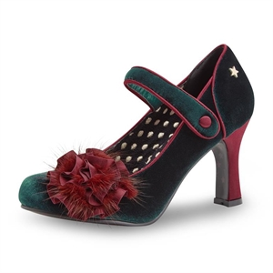 Joe Browns Parade Couture Green Velvet Pumps