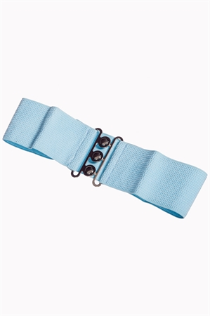 Banned Retro 50s Vintage Stretch Belt in Baby Blue