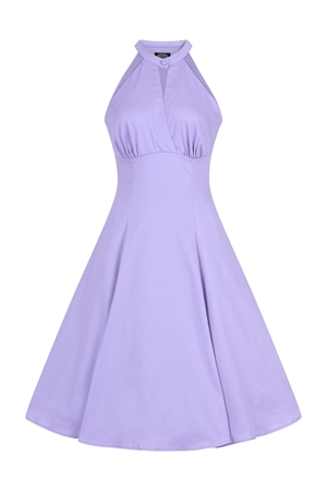 Hearts and Roses 50's Pastel Lilac Rockabilly Summer Retro's Swing Dress