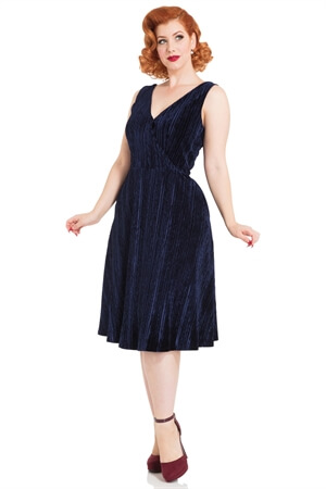 0e37e064ac9 Voodoo Vixen Blue Velvet Dress