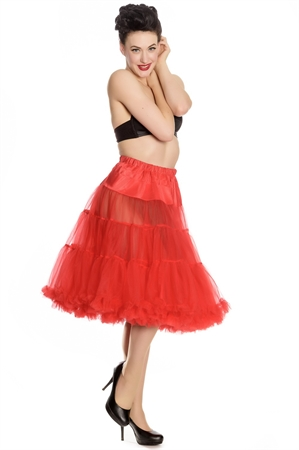 "Hell Bunny Long Petticoat(25-27"") In Red"