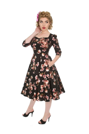 Hearts & Roses 50s Metallic Magnolia Swing Dress
