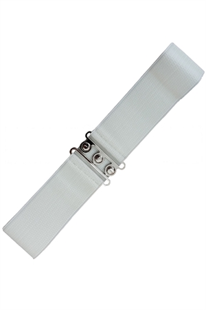 Banned Retro 50s Vintage Stretch Belt in White