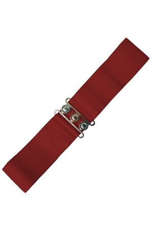 Banned Retro 50s Vintage Stretch Belt in Burgundy