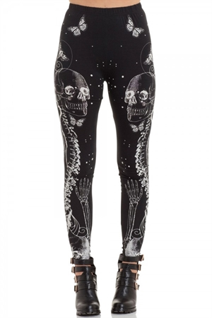 Voodoo Vixen Illustrated Death Leggings