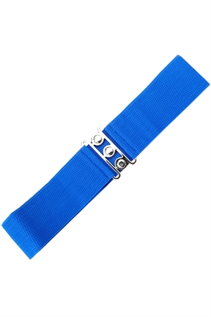Banned Retro 50s Vintage Stretch Belt in Royal Blue