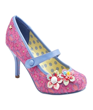 Joe Browns Couture Pink Blue Malia Lace Mary Jane Shoes