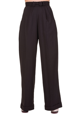 Banned Dancing Days 40s Black Retro Hidden Away Trouser