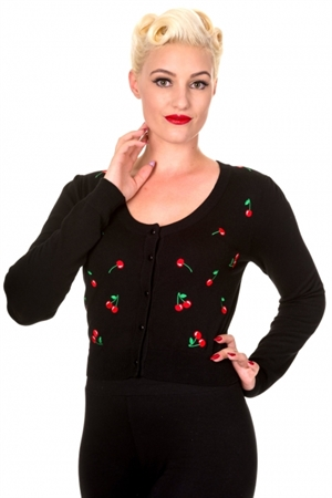Banned Retro 50s Drive me Crazy Cherries Cardigan