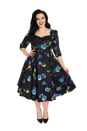 Hearts & Roses Blue Melody Floral Dress