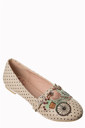 Dancing Days 50s Ballerina Flats Pearl Bicycle For Two