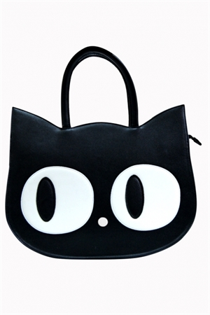 Banned Black Kitty The Heart Of Gold Handbag