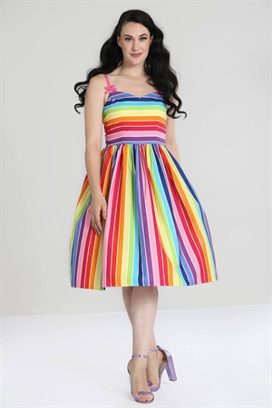 Hell Bunny 50s Over The Rainbow Retro Swing Dress