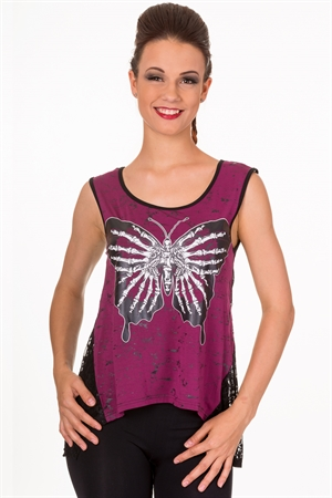 Banned Mia Butterfly Vest Top