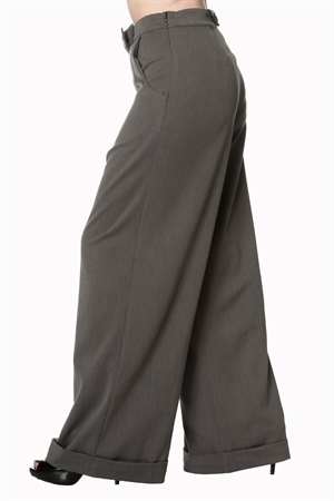 Banned Dancing Days 40s Grey Retro Hidden Away Trouser