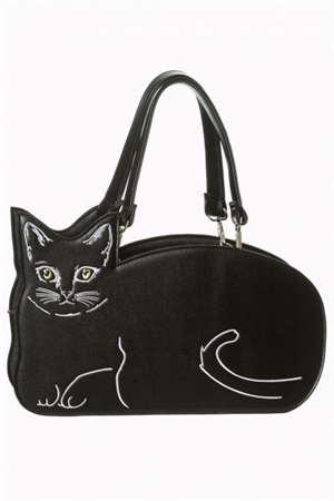 Banned Small Black Kitty Kat Bag