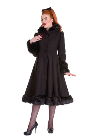 Hell Bunny Black Elvira Coat