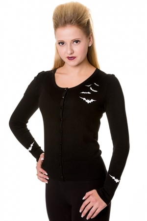 Banned Alternative Black Bat Cardigan